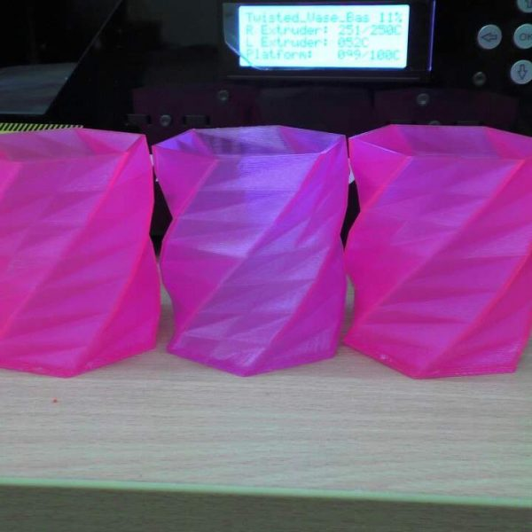 "Розовый SBS ""ВАТСОН"" пластик для 3Д принтера 1,75 ММ. 0,5 КГ."