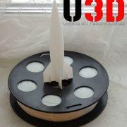 "Белый SBS ""ВАТСОН"" пластик для 3Д принтера 1,75 ММ. 0,5 КГ."