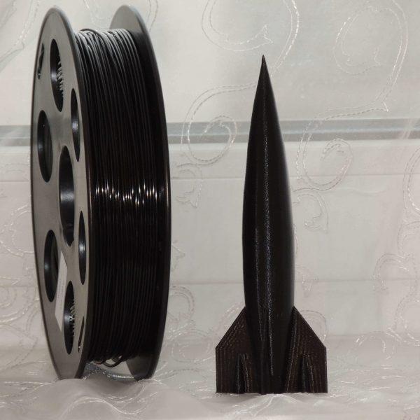 """Черный SBS """"ВАТСОН"""" пластик для 3Д принтера 1,75 ММ. 0,5 КГ."""