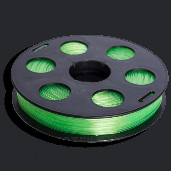 Салатовый SBS «ВАТСОН» пластик для 3Д принтера 1,75 ММ. 0,5 КГ.